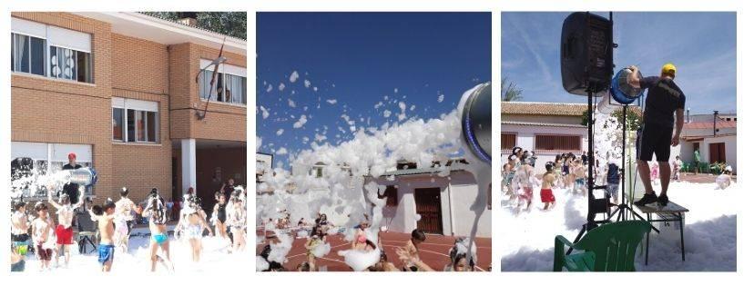 fiestas de la espuma en Ciudad Real, Albacete, Toledo y cuenca